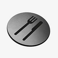 """Табличка круглая """"Кухня"""" Stainless Steel"""
