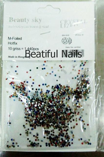 Цветные стразы для декора ногтей 1440 шт, одного размера №4