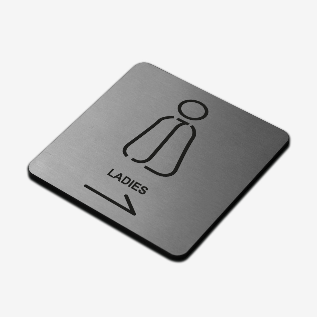 "Табличка ""Женский туалет"" Stainless Steel"