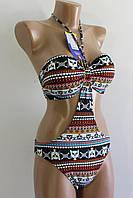 Жіночий купальник монокіні коричневий ЗМН8805-4 36-38