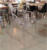 Стул Masters Chair Transparent Ghost прозрачный поликарбонат, дизайнPhilippe Starck