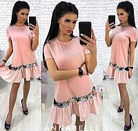 Платье с оборкой в расцветках 33794, фото 1