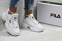Кроссовки женские в стиле Fila код товара SD1-5387. Белые с синим\красные
