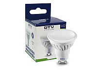 Светодиодная LED лампа GTV, 10W, 3200K, GU10, MR16, 220V. 3 года гарантии! Польша!!