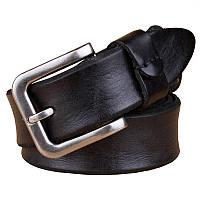 Кожаный ремень мужской Disiwei Solid черный eps-12011