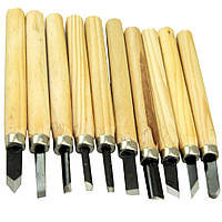 Набор фигурных резцов (стамесок) по дереву Wood carving set 10 штук