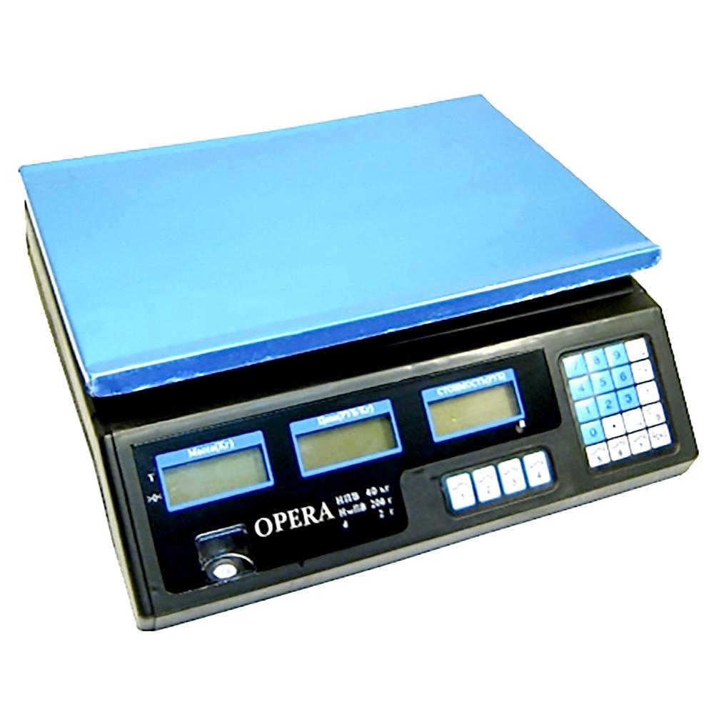 Электронные торговые весы Opera Plus до 40 кг + ПОДАРОК: Настенный Фонарик с регулятором BL-8772A