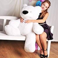 """Великий ведмідь сидячий """"Бублик"""" 140 див.(білий)"""