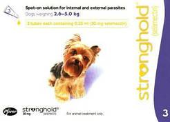 Стронгхолд капли д\собак весом от 2.5-5кг цена за 1 пипетку