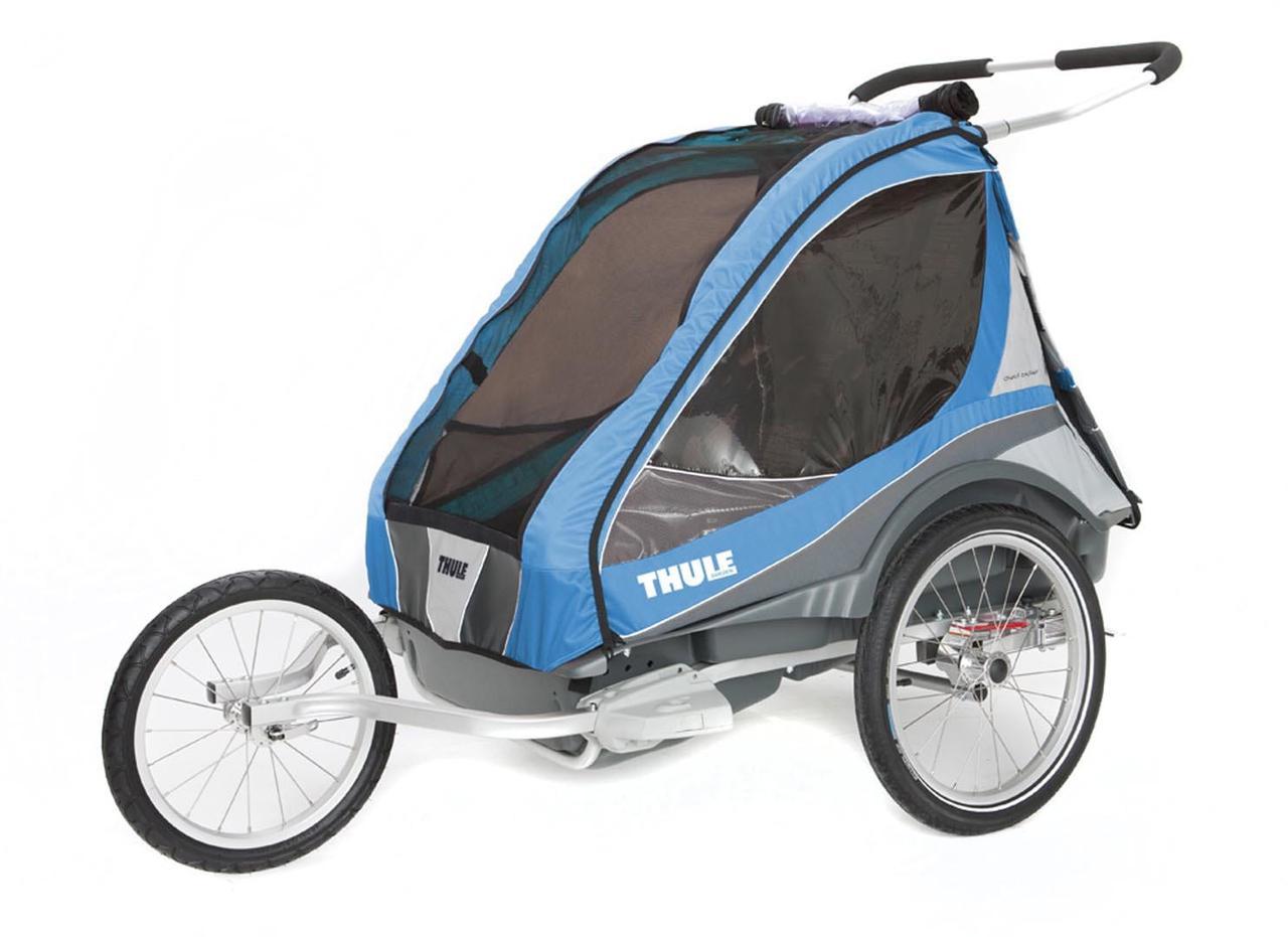 Детская коляска-прицеп для велосипеда Thule Chariot Captain 2 (Blue)