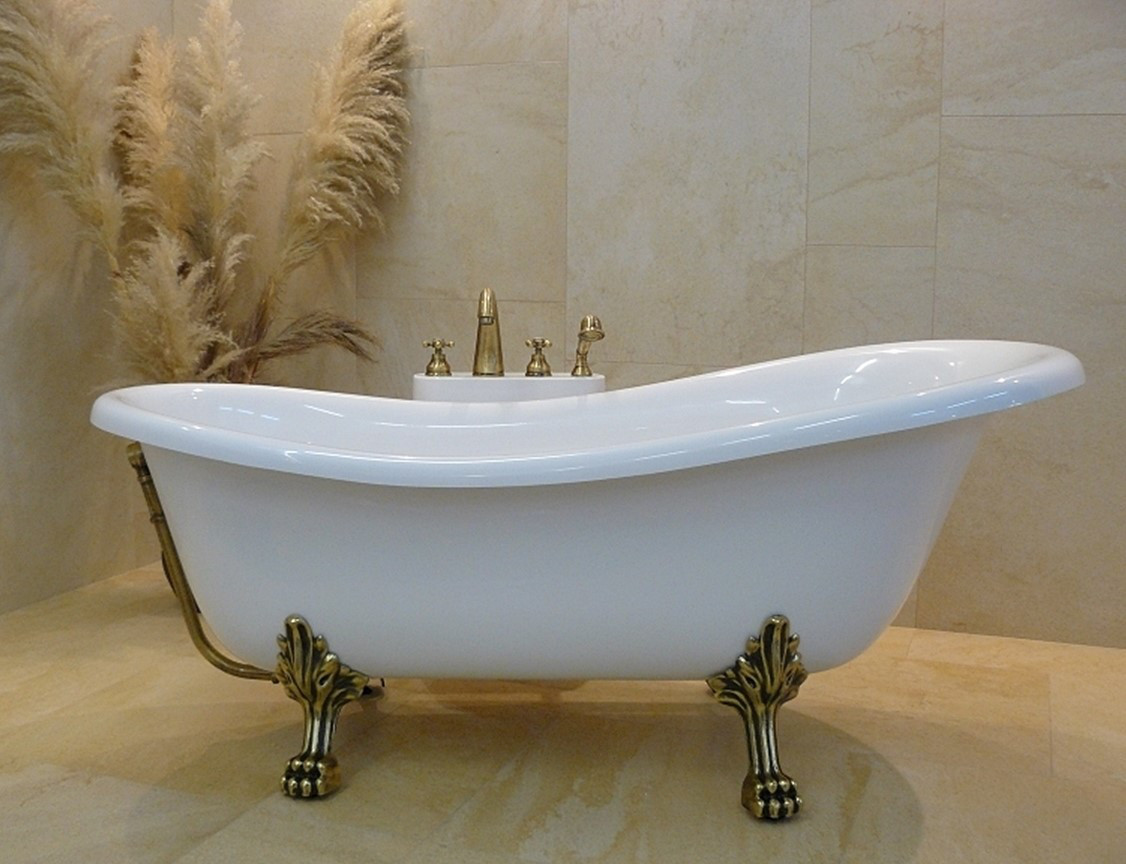 Ванна акриловая OTYLIA (ретро) 160х77 с ногами бронзовыми