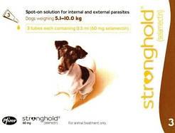 Стронгхолд капли д\собак весом от 5-10кг цена за 1 пипетку