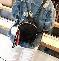 Рюкзак женский велюровый Bobby SK черный eps-8202, фото 2