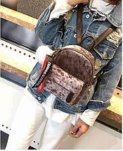 Рюкзак женский велюровый Bobby SX коричневый eps-8203, фото 3