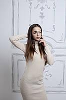 Женское платье  вязаное под горло (АК-025)