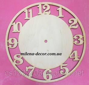 Заготовка для часов с цифрами 25см (фанера 6 мм)