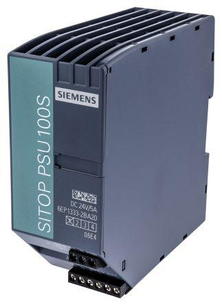 Стабилизированный блок питания Siemens SITOP PSU100S 24 V/5 A, 6EP1333-2BA20