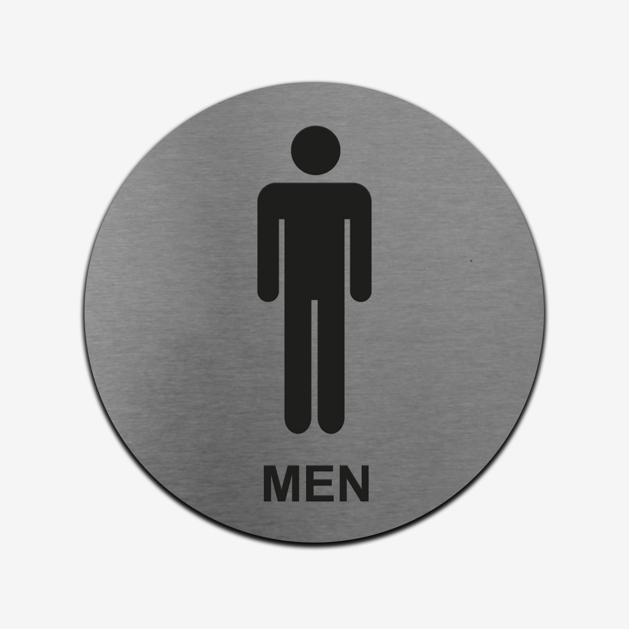 """Табличка кругла """"Чоловічий туалет"""" Stainless Steel"""