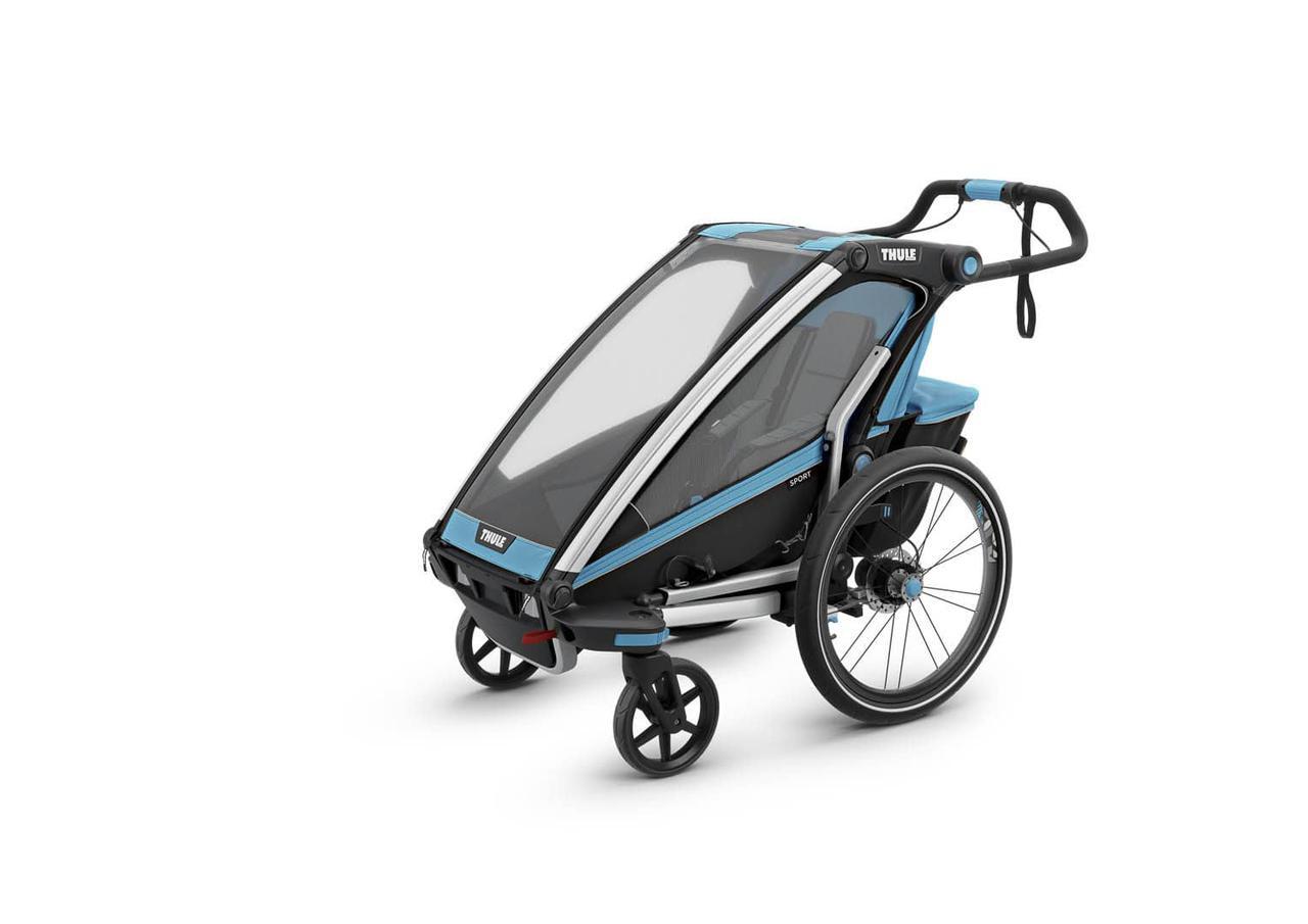 Детская коляска-прицеп для велосипеда Thule Chariot Sport 1 (Blue-Black)