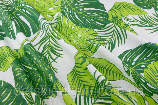 Хлопковая ткань с растениями