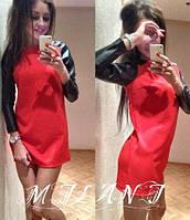 Платье кож рукава, фото 1