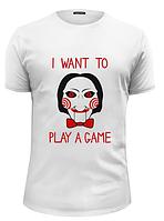 Футболка GeekLand Пила Я хочу поиграть в игру