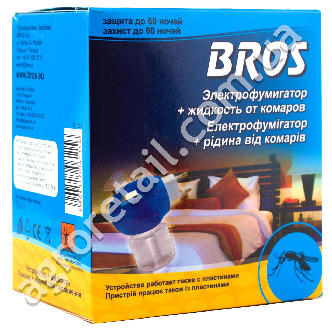 Электрофумигатор + жидкость от комаров Bros