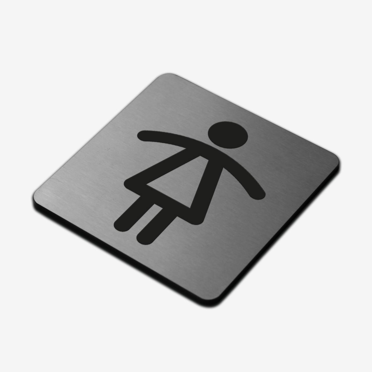 """Табличка """"Жіночий туалет"""" Stainless Steel"""