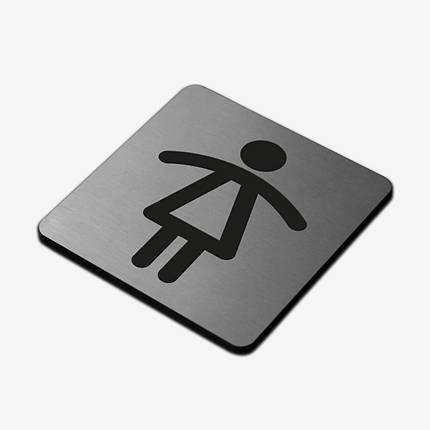"""Табличка """"Жіночий туалет"""" Stainless Steel, фото 2"""