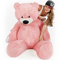 """Великий ведмідь сидячий """"Бублик"""" 140 див.(рожевий)"""
