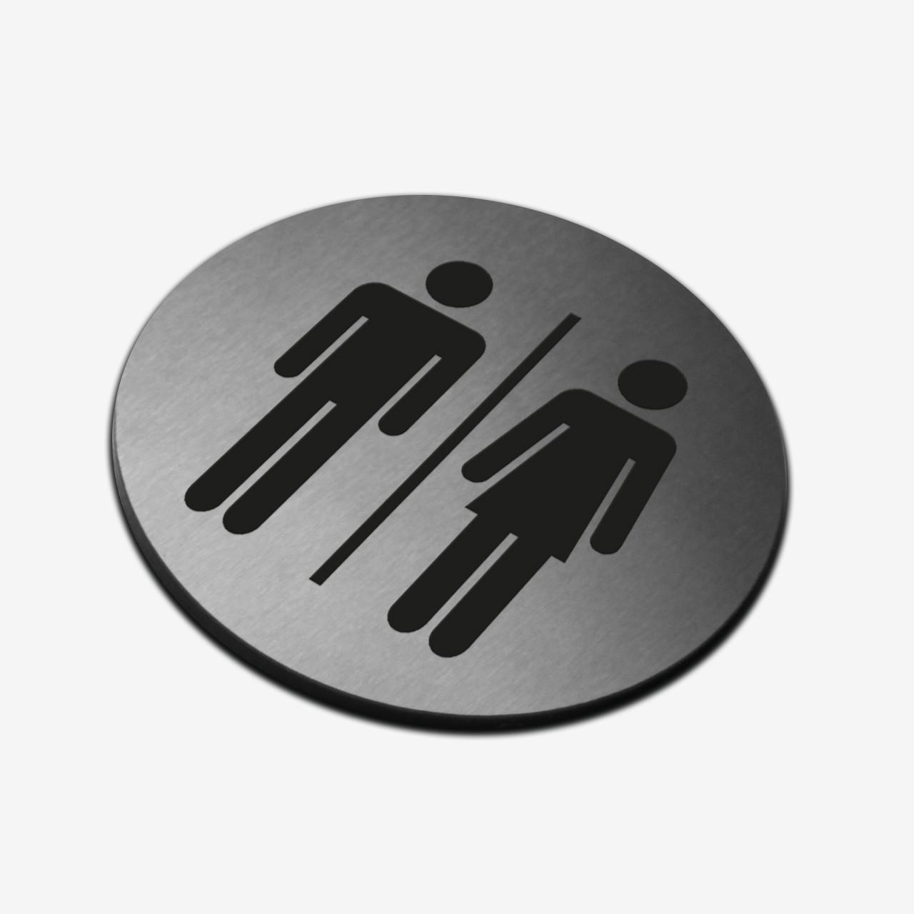 "Табличка кругла ""WC"" Stainless Steel"