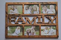 Рамка коллаж 7545 Family 6 фото бронза