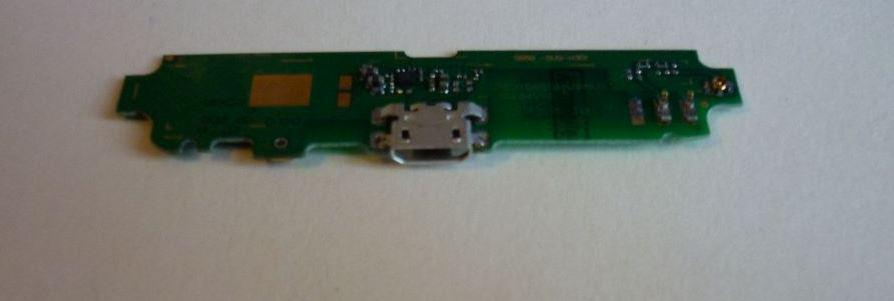 Шлейф Lenovo S650 коннектора зарядки с компонентами