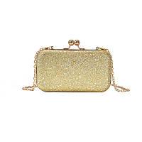 Вечерняя женская сумочка клатч Brady Gold eps-6075
