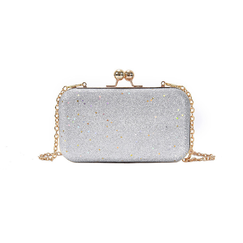 Вечерняя женская сумочка клатч Brady Silver eps-6076