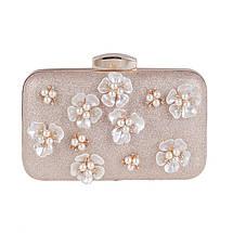 Вечерняя женская сумочка Bluebell Flower Golden eps-6077, фото 3