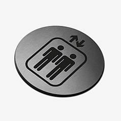 Табличка кругла Stainless Steel