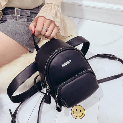 Рюкзак-сумка Lns Black черный eps-8240, фото 2