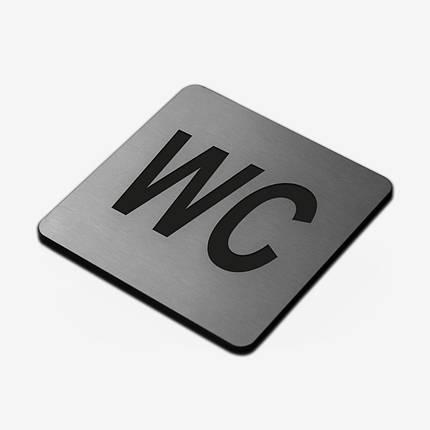 """Табличка """"WC"""" Stainless Steel, фото 2"""