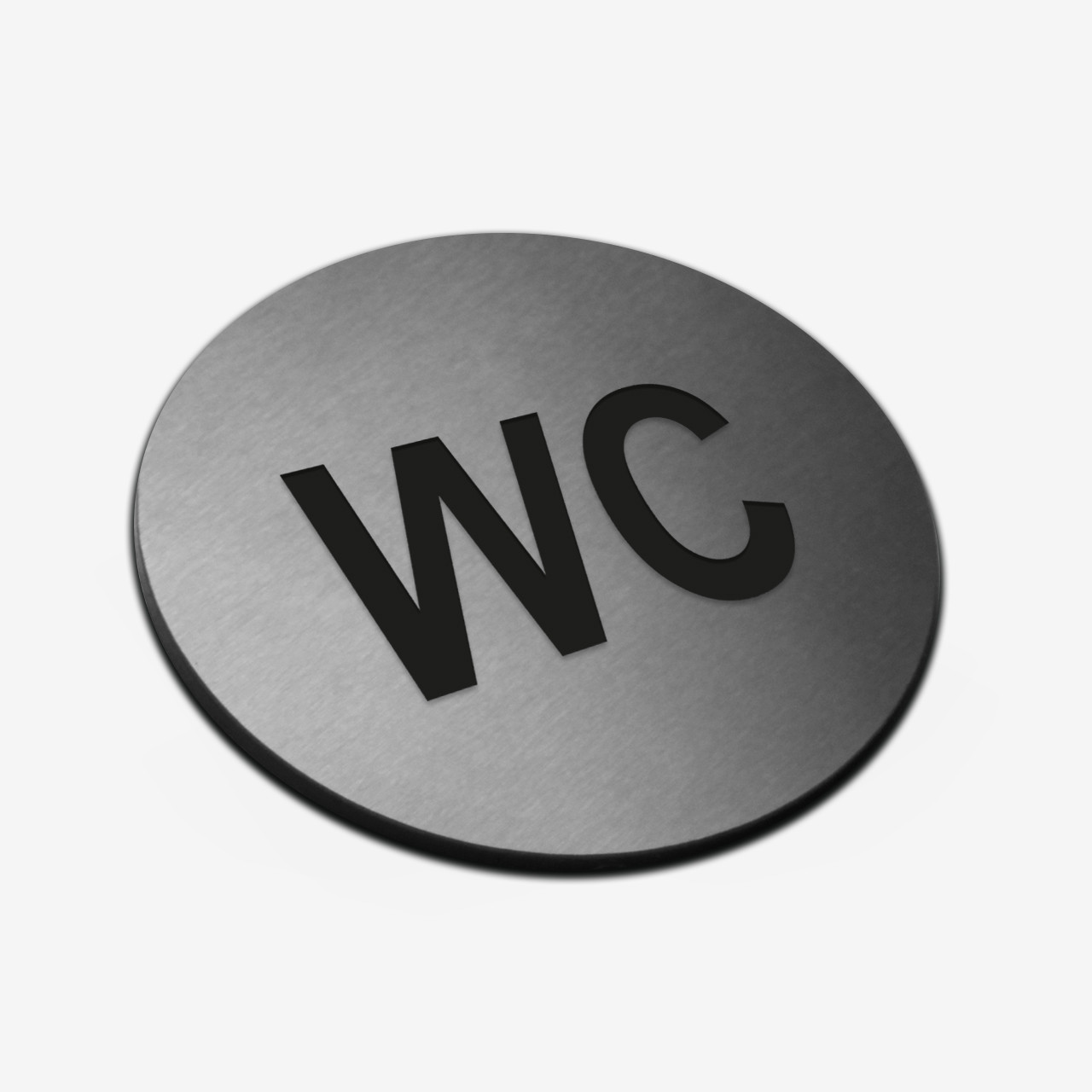 """Табличка круглая """"WC"""" Stainless Steel"""
