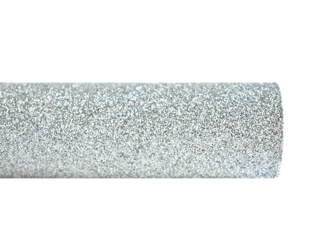ffa7ce36cad1f Серебряная ткань с мелким глиттером (блестками) искусственная кожа (кожзам)  20x25 см -