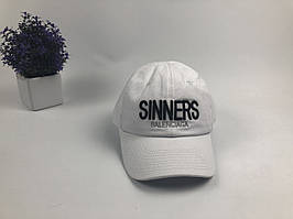 Кепка бейсболка Balenciaga Sinners (белая)