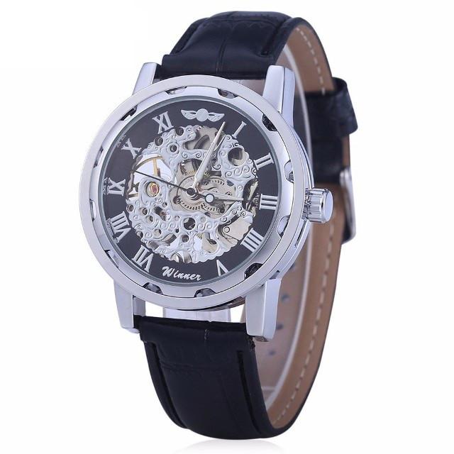 Механические мужские часы WINNER SILVER