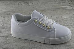 Кеды, мокасины,криперы женские белые MaiNelin, весенняя, летняя, повседневная обувь