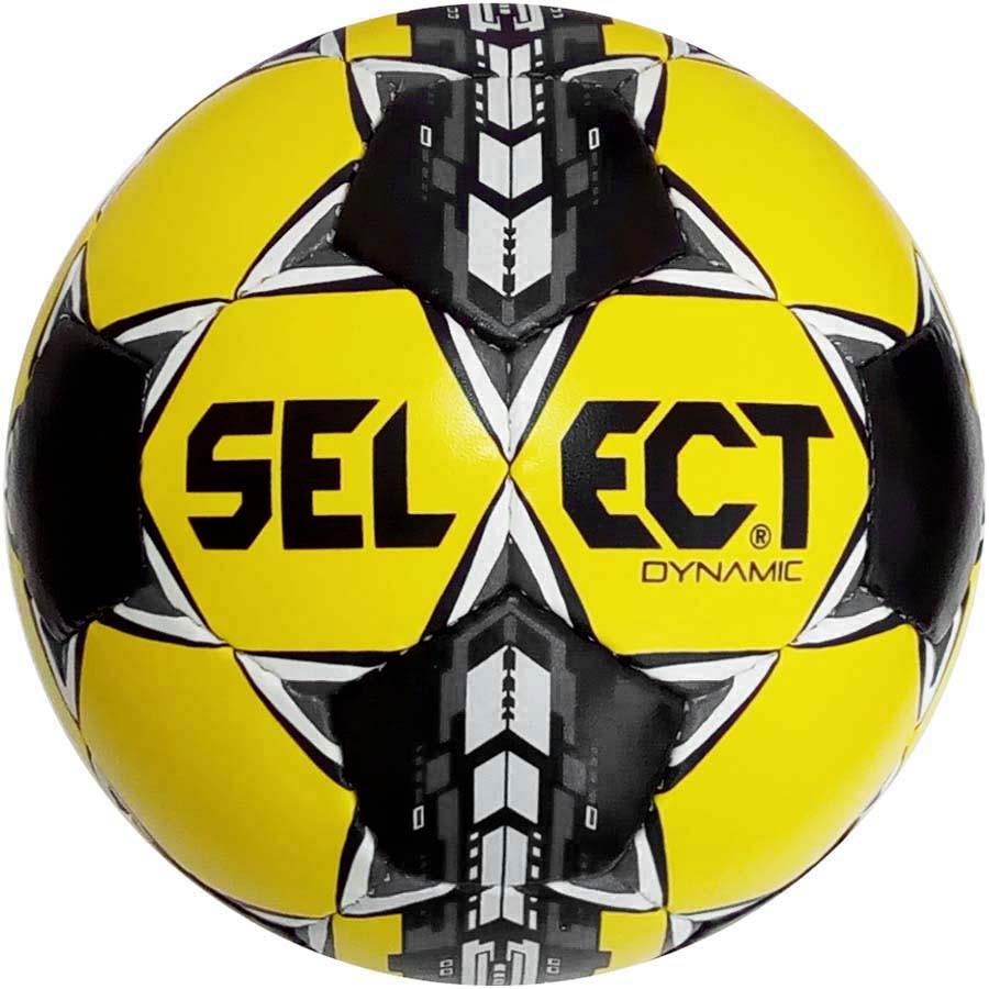 Мяч футбольный Select Dynamic, желто-черный, р.5, не ламинированный
