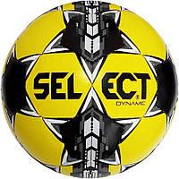 Мяч футбольный Select Dynamic, желто-черный, р.5, не ламинированный, фото 1