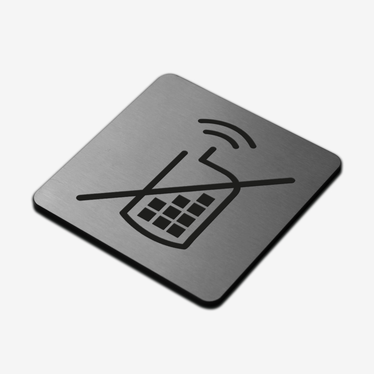 "Табличка ""Телефон запрещен"" Stainless Steel"