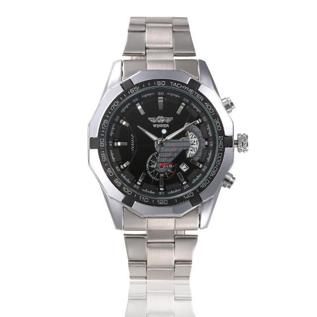 Механические мужские часы WINNER TITANIUM BLACK