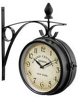 Часы в стиле ретро-железнодорожной станции двохсторони 21см