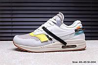 Кроссовки Nike Air Max 1 x Off-White найк аир макс мужские женские Sl-004 реплика, фото 1